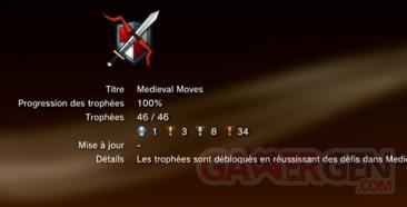 Medieval Moves - Trophées - LISTE    1