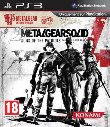 Metal Gear Solid 4 Guns of the patriots Ždition anniversaire jaquette