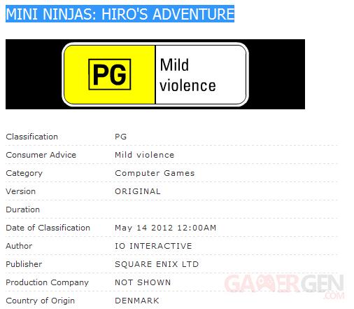 Mini Ninjas Hiro's Adventure