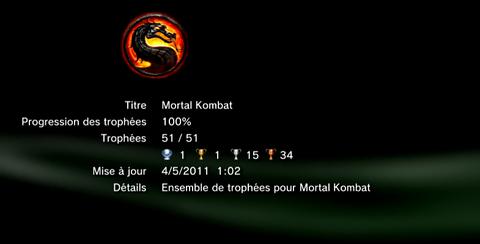 Mortal Kombat trophees LISTE   1