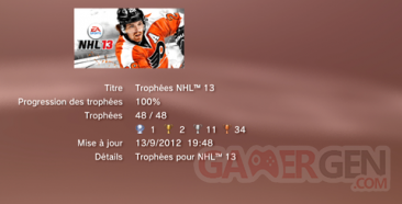 NHL 13 - Trophées LISTE   1