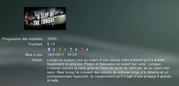 L.A. Noire DLC Une carte très grise Trophees LISTE 1