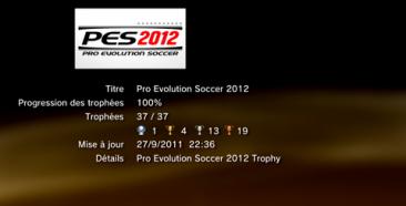 PES 2012 - Trophées - LISTE   1