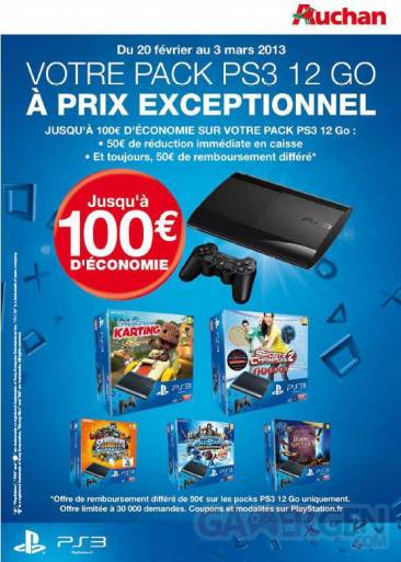 PlayStation 3 12 Go offre auchan