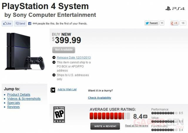 PlayStation 4 Gamestop precommande 09.07.2013.