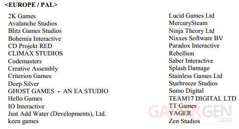 playstation 4 ps4 european studio europeen liste