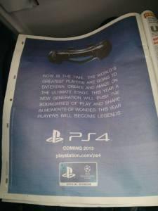 PlayStation 4 publicité Metro