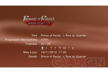 Prince of Persia Trilogy - l ame du guerrier trophees - LISTE        1
