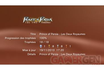 Prince of Persia Trilogy - les deux royaumes trophees LISTE         1