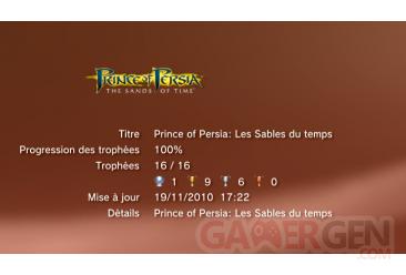 Prince of Persia Trilogy - les sables du temps trophees LISTE             1