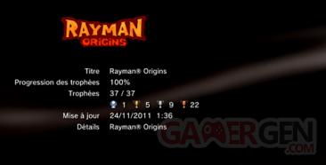 Rayman Origins - trophées - LISTE -  1