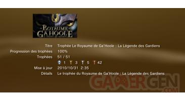 Le royaume de gahoole  trophees LISTE PS3 PS3GEN 01