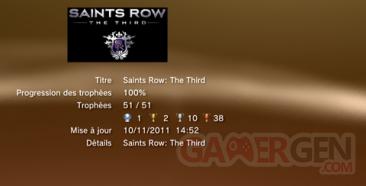 Saints Row The Third - Trophées - LISTE 1