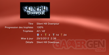 SILENT HILL DOWNPOUR TROPHEES liste