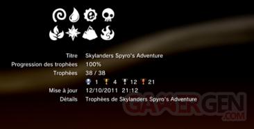 Skylanders Spyro's Adventure - Trophées - LISTE 1
