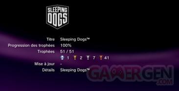 Sleeping Dogs - Trophées - LISTE -  1