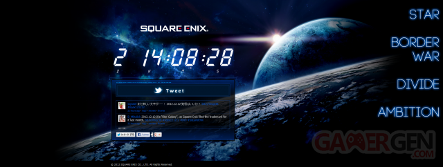 Square Enix compte à rebours screenshot 09122012