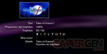 Tales of Grace F - Trophées - LISTE