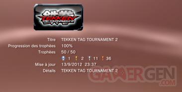 Tekken Tag Tournament 2 - Trophées LISTE  1