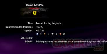 Test Drive Ferrari - Trophées - LISTE