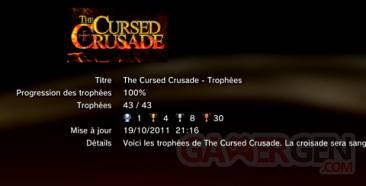 The Cursed Crusade - trophées -LISTE 1