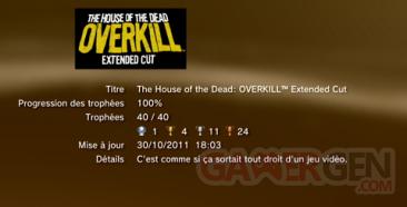 The House of the Dead - OVERKILL - Extended Cut - Trophées - LISTE        1