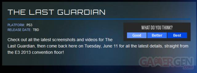 The Last Guardian E3