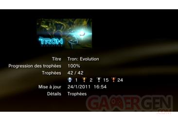 TRON trophées PS3 LISTE 1