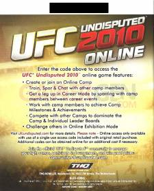 UFC INDISPUTED CODE MULTI - 1