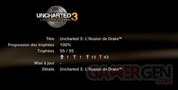 Uncharted 3 - Trophées - LISTE 1