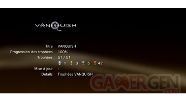 vanquish trophees LISTE PS3 01