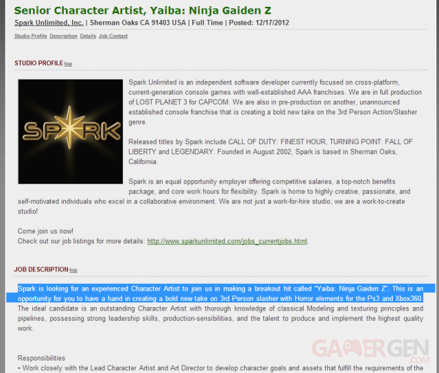 Yaiba Ninja Gaiden Z screenshot 21122012